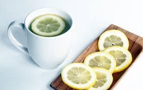lemon + hot water